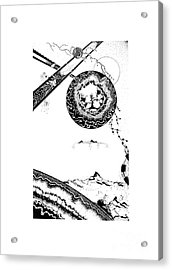 Floating Mountain Acrylic Print by Jan Adrian Klein Ovink