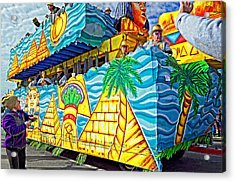 Floating Thru Mardi Gras 2 Acrylic Print
