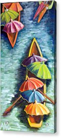 Floating Umbrellas Acrylic Print