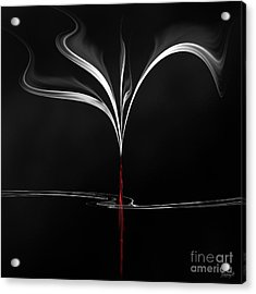 Acrylic Print featuring the digital art Floating With Red Flow 4 by Johnny Hildingsson