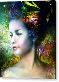 Flora Acrylic Print by Mary Hood