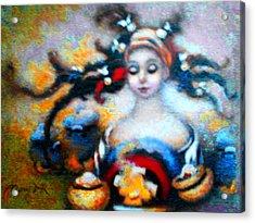 Flora Mae Brightened Acrylic Print