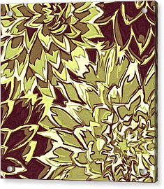 Floral Abstraction 19 Acrylic Print by Sumit Mehndiratta