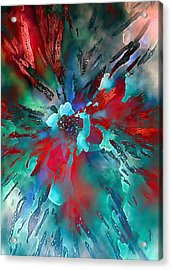 Floral Eruption Acrylic Print by AnneLise McCoy