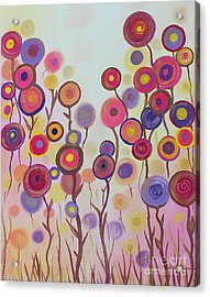 Acrylic Print featuring the painting Floral Jewels by Stacey Zimmerman