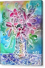 Floral Acrylic Print by M C Sturman