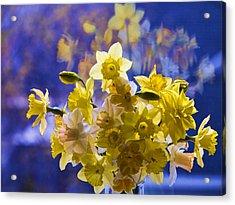Floral Reflections Acrylic Print by Jo-Anne Gazo-McKim