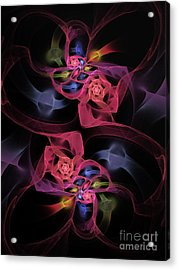 Floral Rose Edgy Abstract Acrylic Print