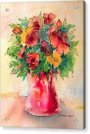 Floral Still Life Acrylic Print by Arline Wagner