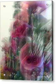 Florals In Motion 2 Acrylic Print by Cedric Hampton