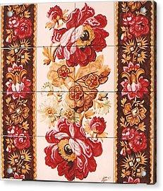 Florao Vermelho Acrylic Print by Paula Teresa