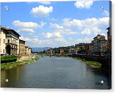 Florence Arno River Acrylic Print by Patrick Witz