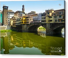Florence Italy - Ponte Vecchio - 05 Acrylic Print by Gregory Dyer