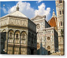 Florence Italy - Santa Maria Del Fiore Acrylic Print by Gregory Dyer