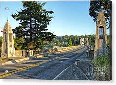 Florence Oregon - Art Deco Bridge - 02 Acrylic Print by Gregory Dyer
