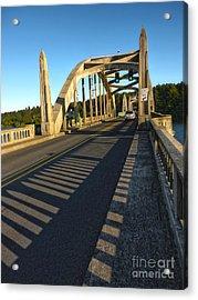 Florence Oregon - Art Deco Bridge Acrylic Print by Gregory Dyer