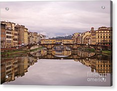 Florence Reflections Acrylic Print