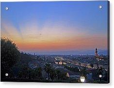 Florence Sunset Acrylic Print by La Dolce Vita
