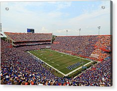 Florida  Ben Hill Griffin Stadium On Game Day Acrylic Print