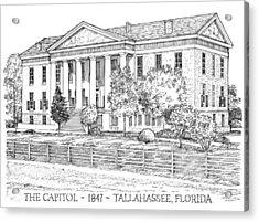 Florida Capitol 1847 Acrylic Print