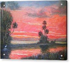 Florida River Scene Acrylic Print by Mike McCaughin