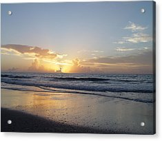 Acrylic Print featuring the painting Florida Sunrise  by Elizabeth Sullivan