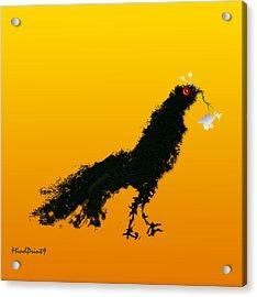 Acrylic Print featuring the digital art Flower Bird by Asok Mukhopadhyay