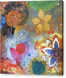 Acrylic Print featuring the painting Flower Garden by Elizabeth Coats