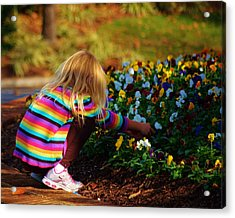 Flower Girl Acrylic Print