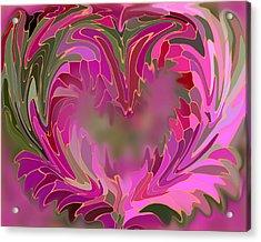 Flower Heart Acrylic Print