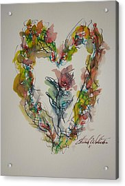 Flower Heart Song Acrylic Print by Edward Wolverton