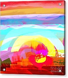 Flower Impact Acrylic Print by MURUMURU By FP