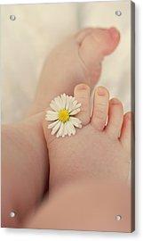 Flower In Baby Toes. Acrylic Print by Augenwerke-Fotografie / Nadine Grimm