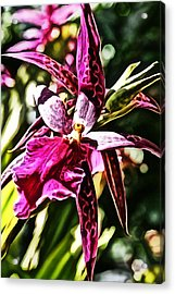Flower Painting 0002 Acrylic Print by Metro DC Photography