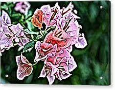 Flower Painting 0005 Acrylic Print