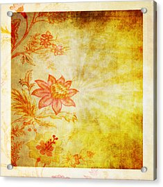 Flower Pattern Acrylic Print by Setsiri Silapasuwanchai