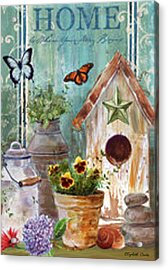 Acrylic Print featuring the painting Flower Pot by Elizabeth Coats