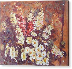 Acrylic Print featuring the painting Flower Profusion  by Richard James Digance