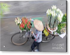 Flower Seller Acrylic Print