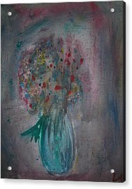 Flower Vase Acrylic Print by Lee Farley
