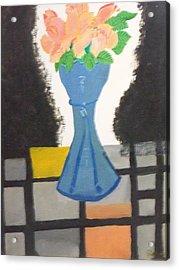 Flower Vase Acrylic Print by Rahul narasimhan