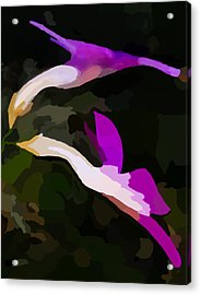 Flowers Dancing Acrylic Print