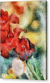 Flowers For Cynthia Acrylic Print by Trish Tritz