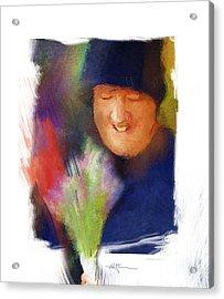 Flowers For Sale Acrylic Print by Bob Salo
