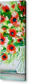 Flowers In A Glass Acrylic Print