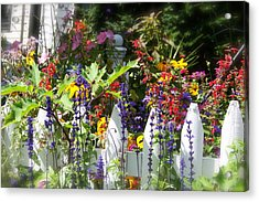 Acrylic Print featuring the photograph Flowers Of New Hampshire by Robin Regan