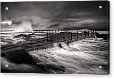 Flowing Mood Acrylic Print by Mark Lucey