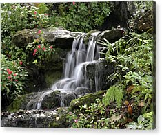 Acrylic Print featuring the photograph Flowing Softly by Myrna Bradshaw