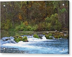 Flowing Water Acrylic Print by Julie Grace