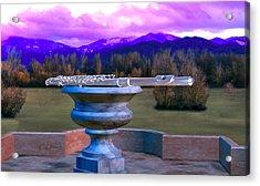 Flute On Marble Vase 2 Acrylic Print